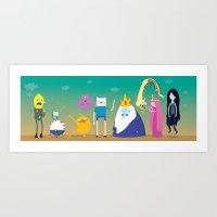 Adventure Time Character… Art Print