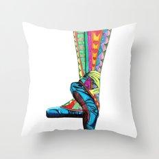 Happy Ballet II Throw Pillow