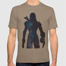 Mass Effect - Space , Fe… Mens Fitted Tee Tri-Coffee SMALL