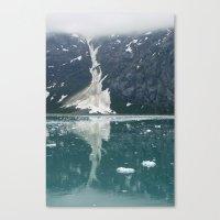 alaskan ice. Canvas Print