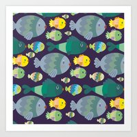 Fish Pattern Art Print
