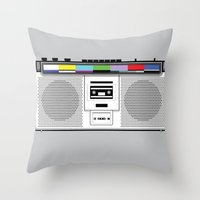 1 kHz #9 Throw Pillow