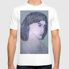 JANE BURDEN STUDY White Mens Fitted Tee SMALL