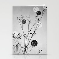 Abstract Flowers 3 Stationery Cards