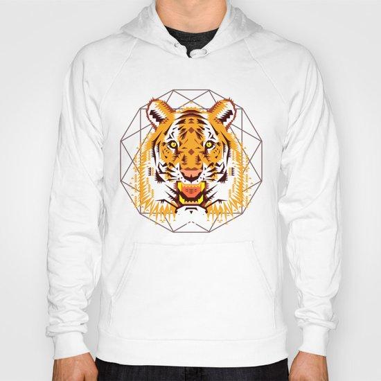 Geometric Tiger Hoody