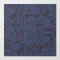 Paisley Platinum Canvas Print