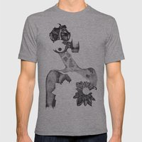 Anabelle (B&W) Mens Fitted Tee Athletic Grey SMALL