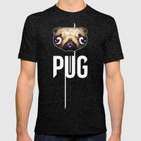 PUG Mens Fitted Tee Tri-Black SMALL