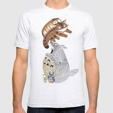 tonari no totoro Mens Fitted Tee Ash Grey SMALL