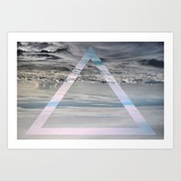 Triangle Cloud Art Print