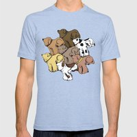 Dog Tessellation Mens Fitted Tee Tri-Blue SMALL