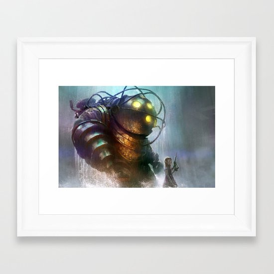 Mr Bubbles strolling  Framed Art Print