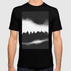 The Woods are calling Mens Fitted Tee Black SMALL