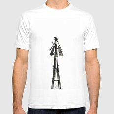 Waiting for Tomorrow White SMALL Mens Fitted Tee