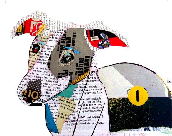 joey the greyhound Art Print