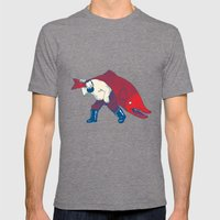 Big Fish Mens Fitted Tee Tri-Grey SMALL