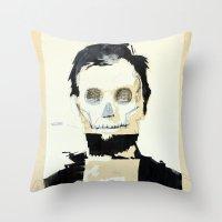 Abraham Lincoln (skull) Throw Pillow