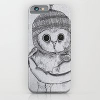 iPhone & iPod Case featuring Bobble Hat Owl by gottalovedrawing