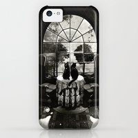 iPhone 5c Cases featuring Room Skull B&W by Ali GULEC