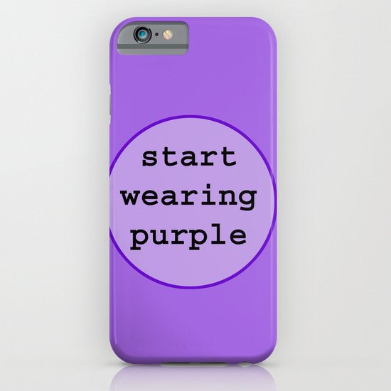Start Wearing Purple iPhone & iPod Case
