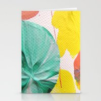 Acryl colored dots Stationery Cards