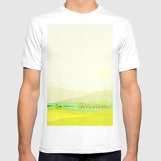 Minimal Meadow Redux Mens Fitted Tee White SMALL