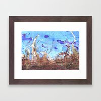 Papyrus And The Mid-day … Framed Art Print