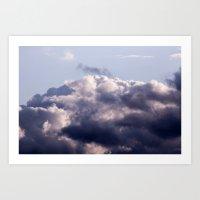 Purple skies Art Print