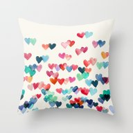 Heart Connections - Wate… Throw Pillow