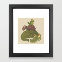 Swamp Squad Framed Art Print