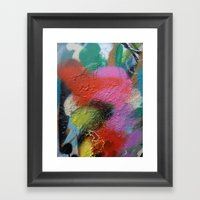 Graffiti Textures Framed Art Print