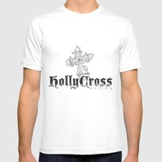 HollyCross Sketch White Mens Fitted Tee SMALL