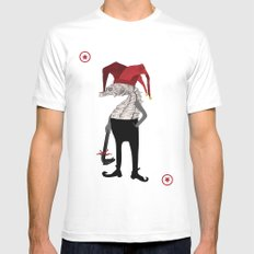 Red Joker SMALL Mens Fitted Tee White