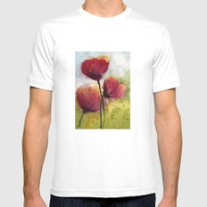 Poppies SMALL Mens Fitted Tee White
