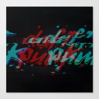 Daft Punk Glitch Canvas Print