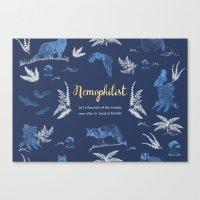 Nemophilist Canvas Print