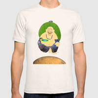 total peace buddha Mens Fitted Tee Natural SMALL
