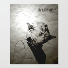 Unreal Party Yoda Canvas Print
