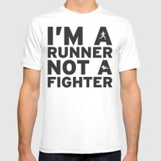 i'm a runner White Mens Fitted Tee SMALL
