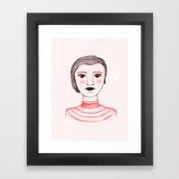 Red Cheeks Framed Art Print