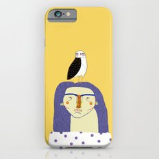 Women and Owl, owl art, people, illustration, fashion, style,  iPhone 6 Slim Case