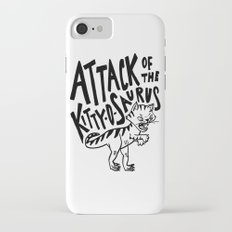 The Attack of Kitty-o-Saurus! iPhone 7 Slim Case