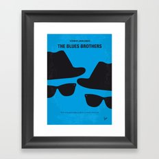 No012 My Blues brothers minimal movie poster Framed Art Print