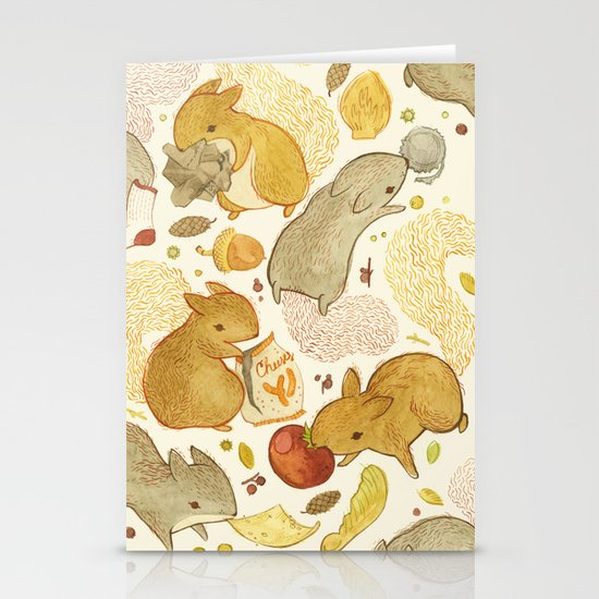 Things Squirrels Probably Shouldn't Be Eating Stationery Card