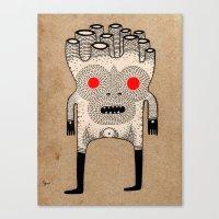Cardboard Man Canvas Print