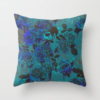 Royal Roses Throw Pillow
