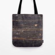Vintage Black Wood Tote Bag