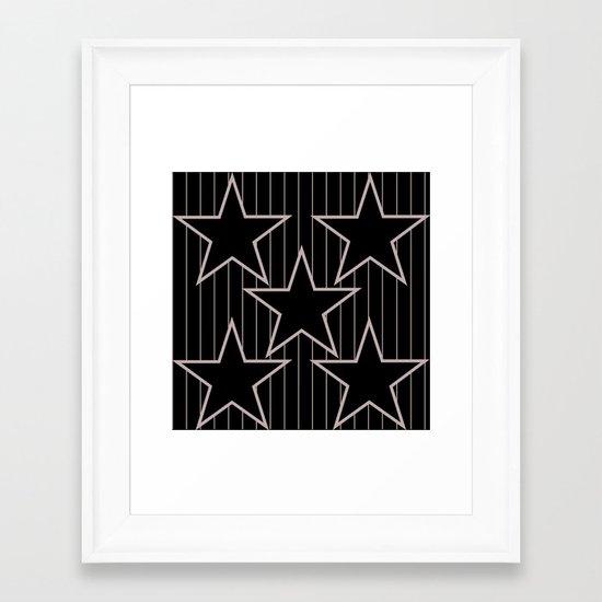 stars 7 Framed Art Print