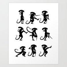 Ministry of Alien Silly Walks Art Print