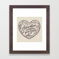 Adventure is where your heart is Framed Art Print